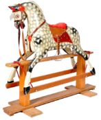 ANTIQUE PAINTED ROCKING HORSE BY J COLLINSON & SON