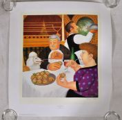 BERYL COOK LIMITED EDITION SIGNED PRINT ' DINING IN PARIS '