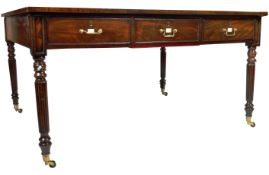 ANTIQUE 19TH CENTURY GILLOWS MANNER PARTNERS DESK LIBRARY TABLE