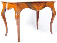 19TH CENTURY ANTIQUE BURR WALNUT WRITING TABLE DESK
