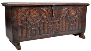 ANTIQUE 16TH CENTURY SPANISH GOTHIC CHESTNUT CHEST