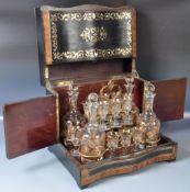 IMPRESSIVE ANTIQUE 19TH CENTURY BOULLE WORK LIQUER BOX