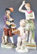 COLLECTION OF ANTIQUE PORCELAIN CLASSICAL FIGURINES