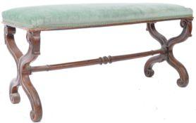 19TH CENTURY VICTORIAN MAHOGANY FRAMED WINDOW SEAT