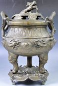 19TH CENTURY CHINESE BRONZE CENSER WITH PROVENANCE