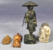 GROUP OF ANTIQUE CHINESE AND OTHER CURIOS
