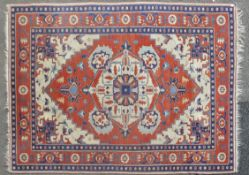 RETAILED BY MAPLE & CO ANTIQUE PERSIAN / ISLAMIC RUG