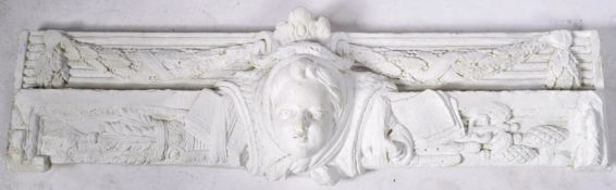 ANTIQUE EARLY 20TH CENTURY FRENCH PLASTER DOOR PEDIMENT