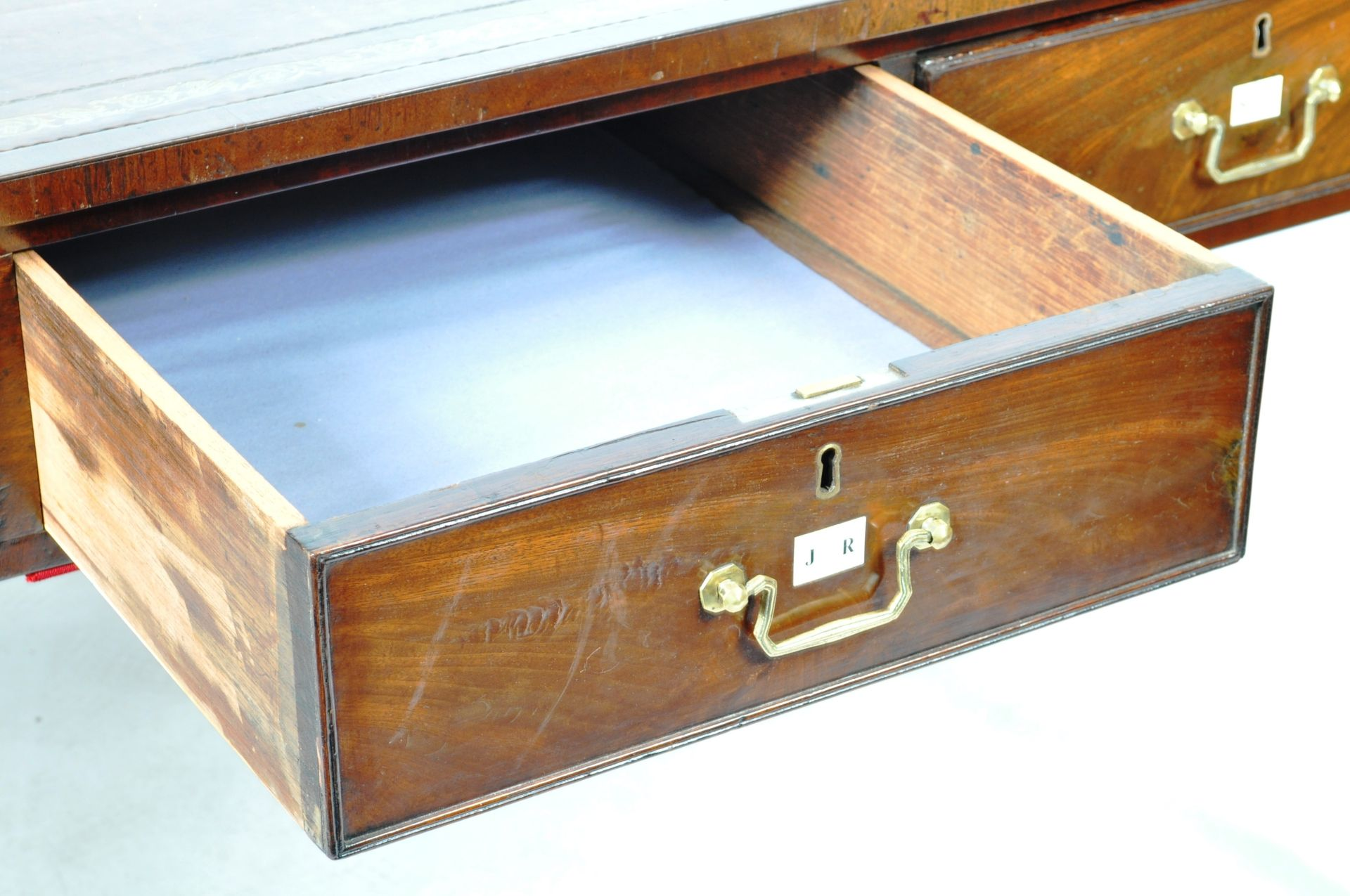 ANTIQUE 19TH CENTURY GILLOWS MANNER PARTNERS DESK LIBRARY TABLE - Image 6 of 9
