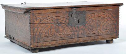 ANTIQUE 17TH CENTURY JACOBEAN OAK BIBLE BOX
