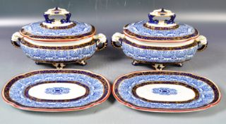 PAIR OF DRESSER FOR WORCESTER AESTHETIC TUREENS