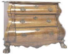 ANTIQUE DUTCH WALNUT BOMBE CHEST OF DRAWERS