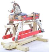 ANTIQUE HANDMADE AND PAINTED CHILDS ROCKING HORSE