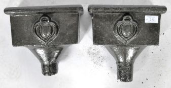 MATCHING PAIR OF VICTORIAN CAST IRON HOPPERS / PLANTERS