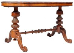 19TH CENTURY VICTORIAN ENGLISH WALNUT AND MARQUETRY TABLE