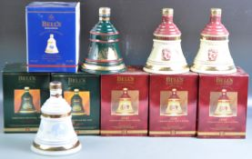 COLLECTION OF BELLS WHISKY CHRISTMAS DECANTERS