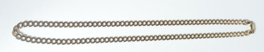 9CT GOLD FLAT LINK NECKLACE CHAIN