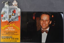 AARDMAN ANIMATIONS - WALLACE & GROMIT ALIVE ON STAGE SIGNED LEAFLET
