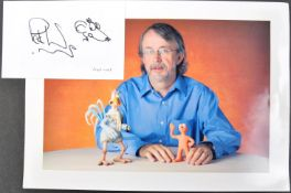 AARDMAN ANIMATIONS - PETER LORD - AUTOGRAPHED SKETCH