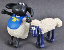 TWO AARDMAN ANIMATIONS SHAUN THE SHEEP PROTOTYPE MODELS