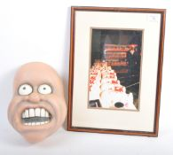 AARDMAN ANIMATIONS - ANGRY KID - PRODUCTION USED MASK & PHOTO