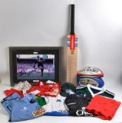 COLLECTION OF ASSORTED SIGNED SPORTING MEMORABILIA