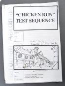 AARDMAN ANIMATIONS - CHICKEN RUN - ORIGINAL 'TEST SEQUENCE' STORYBOARDS