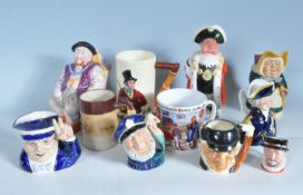 COLLECTION OF VINTAGE 20TH CENTURY CERAMIC CHARACTER JUGS
