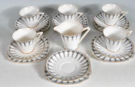 VINTAGE 20TH CENTURY CORINTH PORCELAIN TEA SET