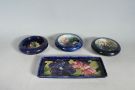 COLLECTION OF FOUR MOORCROFT DISHES