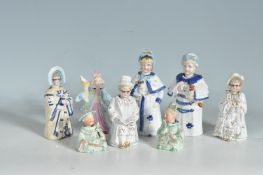 COLLECTION OF LATE 19TH EARLY 20TH CENTURY NODDER FIGURINES