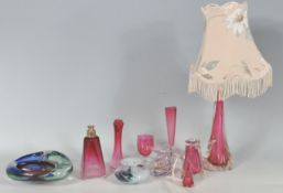 COLLECTION OF RETRO VINTAGE MID 20TH CENTURY GLASS