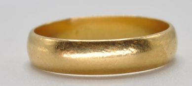 VICTORIAN 22CT GOLD BAND RING