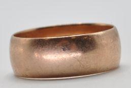 EDWARDIAN 9CT GOLD WEDDING BAND RING