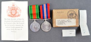 WWII SECOND WORLD WAR MEDAL PAIR IN ORIGINAL BOX