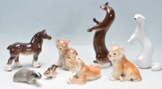 COLLECTION OF VINTAGE 20TH CENTURY CERAMIC ANIMAL FIGURINES