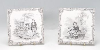 TWO 19TH CENTURY VICTORIAN MINTON TILES