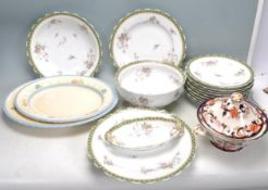 COLLECTION OF VINTAGE CHINA TO INCLUDE LIMOGES, NEW HALL AND MASON.