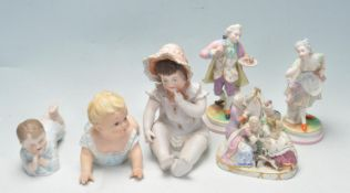 COLLECTION OF VINTAGE 20TH CENTURY BISQUE FIGURINES