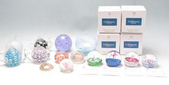 COLLECTION OF VINTAGE STUDIO GLASS PAPERWEIGHTS