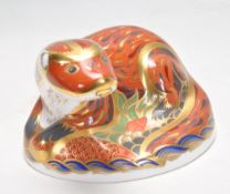 ROYAL CROWN DERBY OTTER PAPERWEIGHT