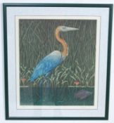 MARK MILLMORE - HERON CONTEMPORARY SIGNED LIMITED EDITION PRINT