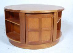 VINTAGE RETRO 20TH CENTURY TAK WOOD CIRCULAR REVOLVING COFFEE TABLE BY NATHAN