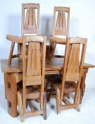 VINTAGE RETRO CART WOOD DINING TABLE AND CHAIRS