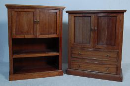 TWO WOODEN HI-FI ENTERTAINMENT CABINETS
