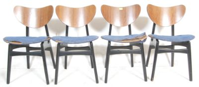 A SET OF FOUR VINTAGE RETRO MID CENTURY G-PLAN LIBRENZA ' BUTTERFLY ' DINING CHAIRS HAVING In
