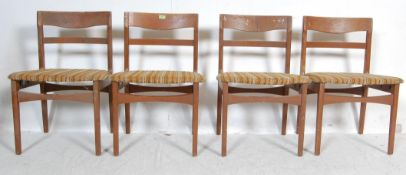 FOUR VINTAGE TEAK WOOD FRAME DINING CHAIRS BY NATHAN
