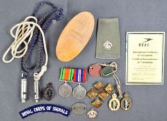WWII SECOND WORLD WAR MEDAL PAIR - ROYAL NAVY - WITH EFFECTS