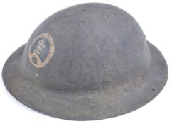 WWI FIRST WORLD WAR 'TOMMY' BRODIE HELMET WITH INSIGNIA