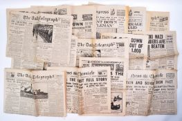 WWII SECOND WORLD WAR - COLLECTION OF WARTIME NEWSPAPERS